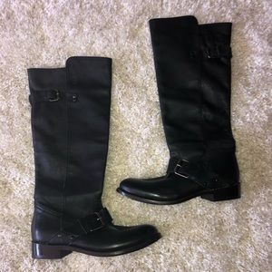 Dolce Vita black leather tall moto boots NWT